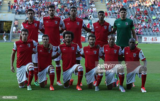 Braga starting eleven in the beginning of the preseason friendly between SC Braga and LOSC Lille at Estadio Municipal de Braga on August 1 2015 in...