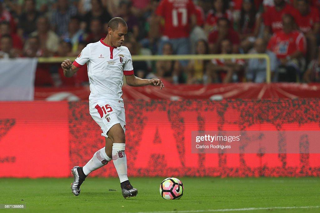 Braga's Brazilian defender Baiano during the match between SL Benfica v SC Braga for Portuguese Super Cup at Estadio Municipal de Aveiro on August 7...