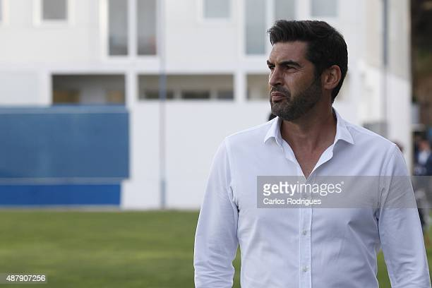 Braga's coach Paulo Fonseca during the match between GD Estoril Praia and SC Braga at Antonio Coimbra da Mota Stadium on September 12 2015 in Lisbon...