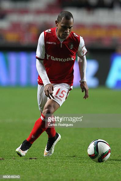 Braga's defender Baiano during the Portuguese Cup match between SL Benfica and SC Braga at Estadio da Luz on December 18 2014 in Lisbon Portugal