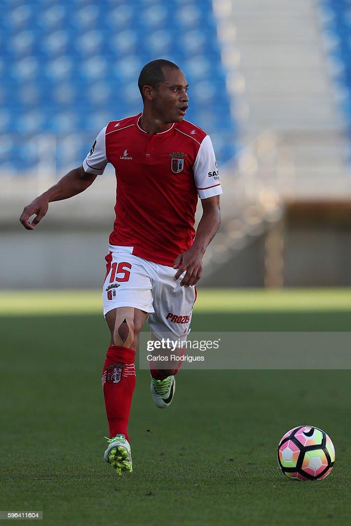Braga's defender Baiano from Brazil during the match between Estoril Praia SAD and SC Braga for the Portuguese Primeira Liga at Estadio Antonio...