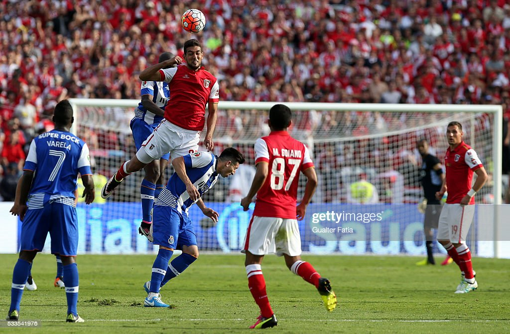 SC Braga's forward Ahmaed Hassan in action during the Portuguese Cup Final match between FC Porto and SC Braga at Estadio Nacional on May 22, 2016 in Lisbon, Portugal.