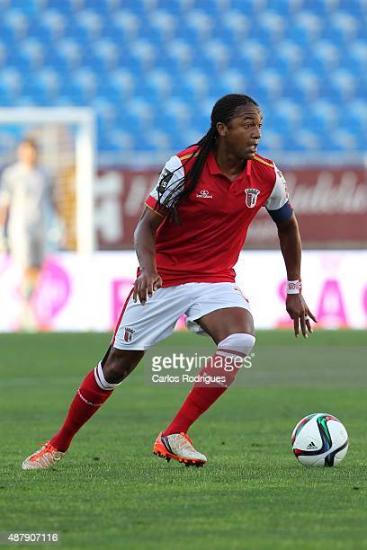 Braga's forward Alan during the match between GD Estoril Praia and SC Braga at Antonio Coimbra da Mota Stadium on September 12 2015 in Lisbon Portugal