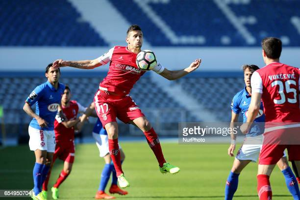 Bragas forward Rui Fonte from Portugal during Premier League 2016/17 match between Os Belenenses and SC Braga at Restelo Stadium in Lisbon on March...