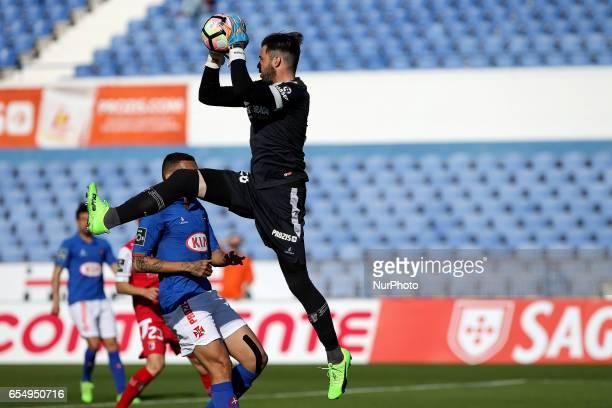 Bragas goalkeeper Carlos Marafona from Portugal during Premier League 2016/17 match between Os Belenenses and SC Braga at Restelo Stadium in Lisbon...