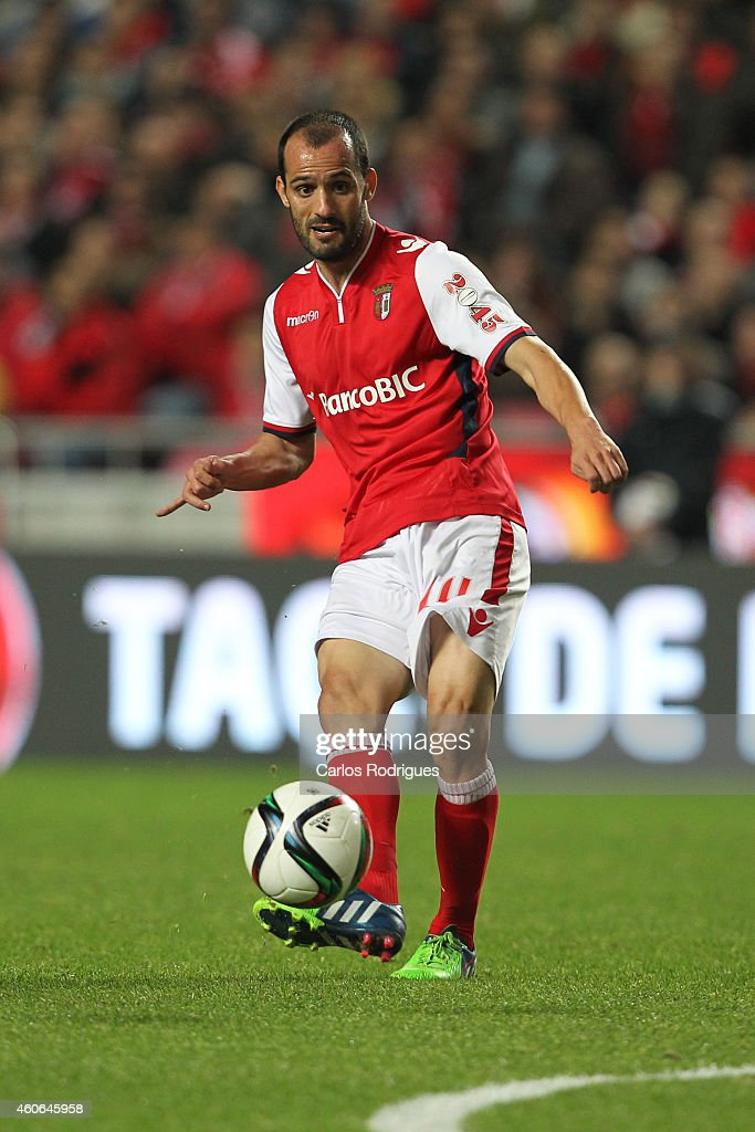 Braga's midfielder <a gi-track='captionPersonalityLinkClicked' href=/galleries/search?phrase=Ruben+Micael&family=editorial&specificpeople=5848979 ng-click='$event.stopPropagation()'>Ruben Micael</a> during the Portuguese Cup match between SL Benfica and SC Braga at Estadio da Luz on December 18, 2014 in Lisbon, Portugal.