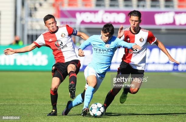 Brahim Diaz of Manchester City during the UEFA Youth Champions League group F match between Feyenoord and Manchester City on September 13 2017 in...