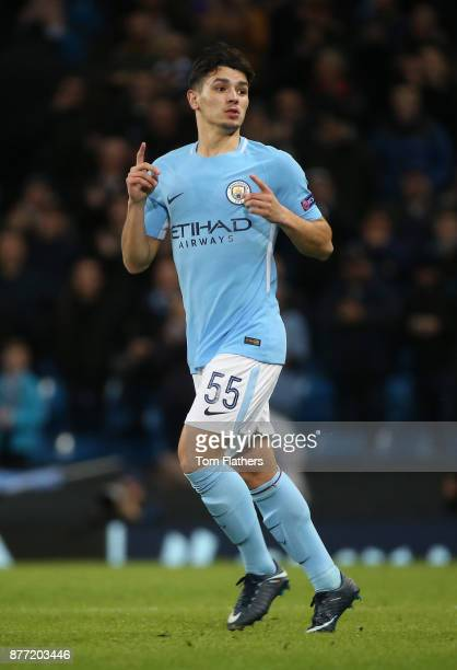 Brahim Diaz of Manchester City in action during the UEFA Champions League group F match between Manchester City and Feyenoord at Etihad Stadium on...