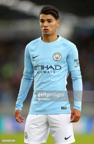 Brahim Diaz of Manchester City looks on during a Pre Season Friendly between Manchester City and West Ham United at the Laugardalsvollur stadium on...