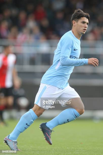 Brahim Diaz of Manchester City U19 during the UEFA Youth League match between Feyenoord Rotterdam U19 and Manchester City U19 at the van Donge de Roo...