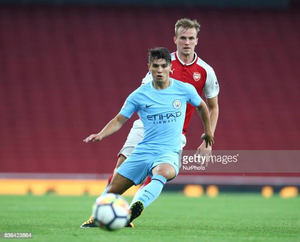 Brahim Diaz of Manchester City Under 23s during Premier League 2 match between Arsenal Under 23s against Manchester City Under 23s at Emirates...