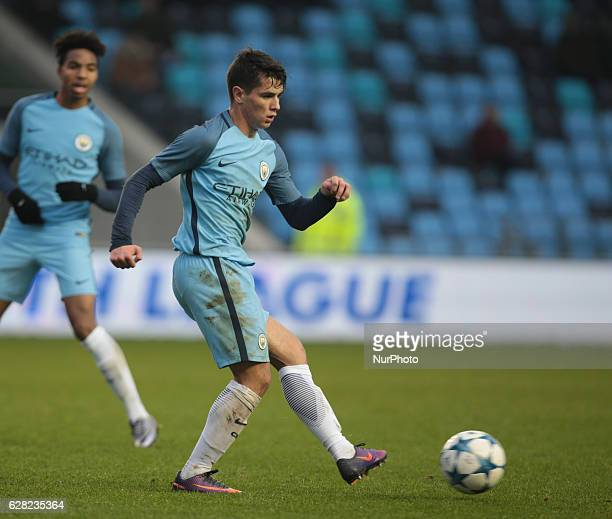 Brahim Diaz of Manchester City Uner 19s during U19 UEFA Youth League match between Manchester City Under 19s against Celtic Under 19s at Academy...