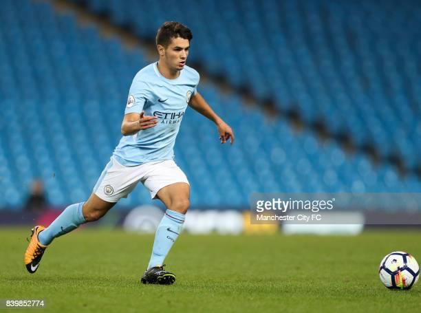 Brahim Diaz of Manchester Cityduring the match between Manchester City and Leicester City in the Premier League 2 at Etihad Stadium on August 25 2017...