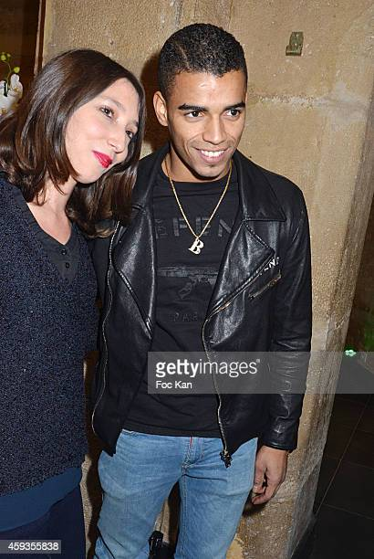 Brahim Zaibat and a guest attend the Acer Pop Up Store Launch Party at Les Halles on November 20 2014 in Paris France