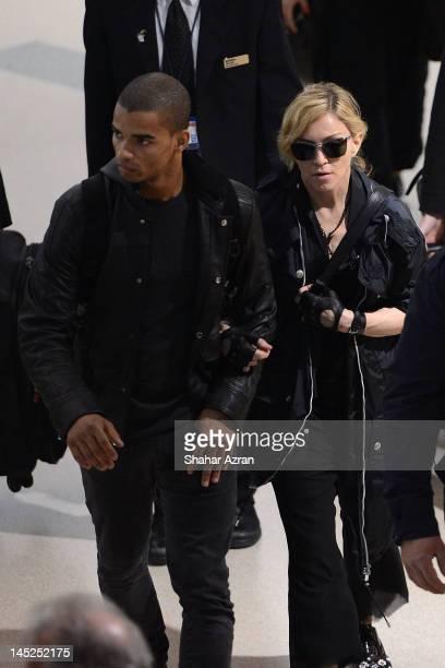 Brahim Zaibat and Madonna at JFK Airport on May 24 2012 in New York City