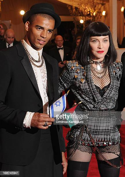Brahim Zaibat and Madonna attend the 2013 Costume Institute Gala PUNK Chaos to Couture at Metropolitan Museum of Art on May 6 2013 in New York City