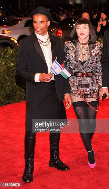 Brahim Zaibat and Madonna attend the Costume Institute Gala for the 'PUNK Chaos to Couture' exhibition at the Metropolitan Museum of Art on May 6...