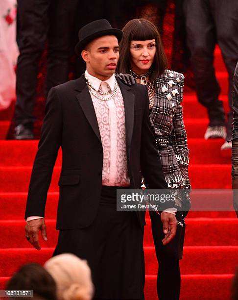 Brahim Zaibat and Madonna departs the Costume Institute Gala for the 'PUNK Chaos to Couture' exhibition at the Metropolitan Museum of Art on May 6...