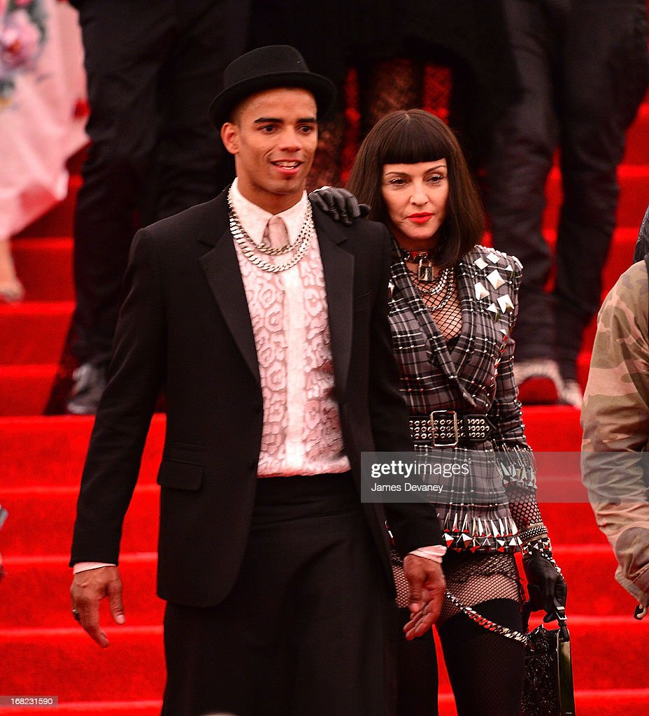Brahim Zaibat and Madonna departs the Costume Institute Gala for the 'PUNK: Chaos to Couture' exhibition at the Metropolitan Museum of Art on May 6, 2013 in New York City.