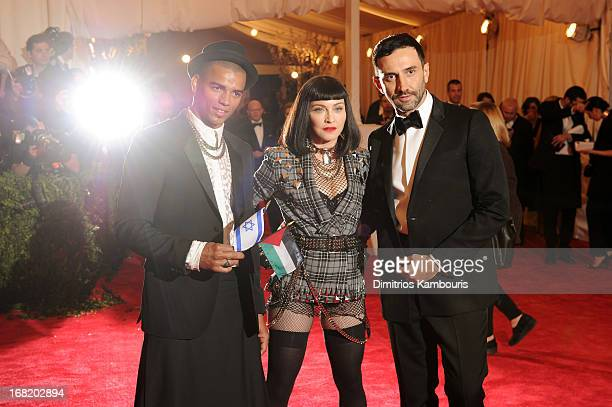Brahim Zaibat Madonna and designer Riccardo Tisci attend the Costume Institute Gala for the 'PUNK Chaos to Couture' exhibition at the Metropolitan...