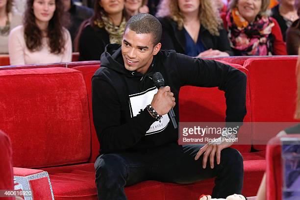 Brahim Zaibat presents the 'Rock it all Tour' during the 'Vivement Dimanche' French TV Show at Pavillon Gabriel on December 17 2014 in Paris France