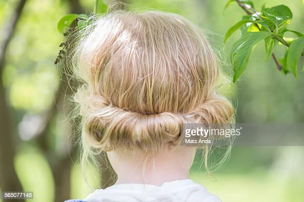 Braided hair on girl