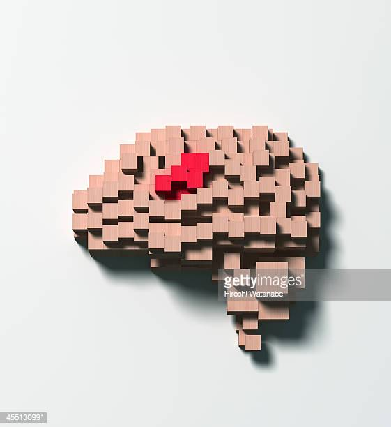Brain disease made of wooden blocks