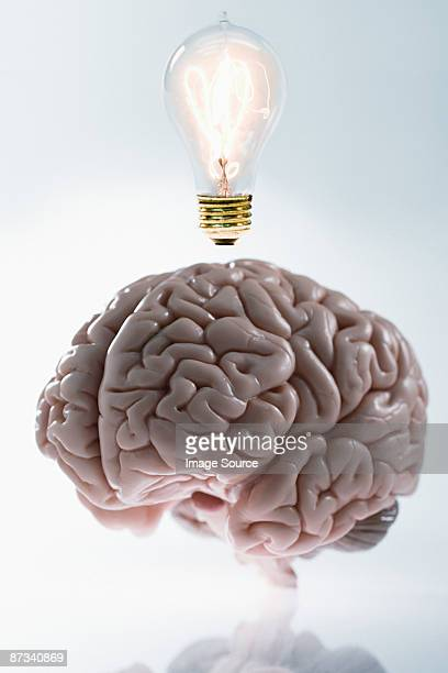 A brain having an idea