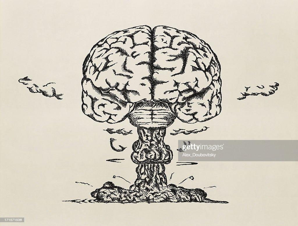 Brain launch. Sketch.