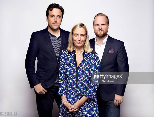 Brain McGinn Mette Heide and Rod Blackhurst of the film 'Amanda Knox' pose for a portraits at the Toronto International Film Festival for Los Angeles...