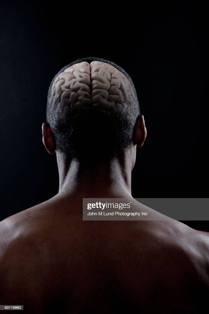 Brain of mixed race man : Stock Photo