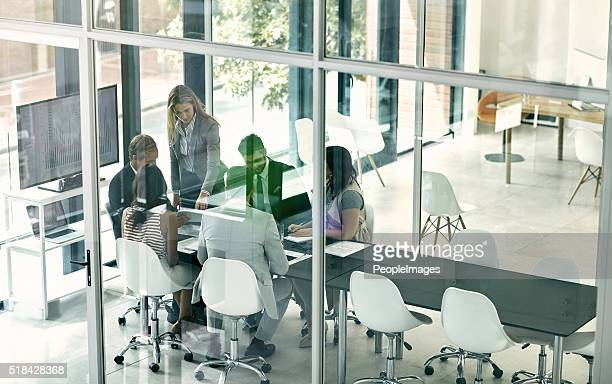 Brainstorming in the boardroom