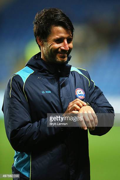 Braintree Town Manager Danny Cowley looks on prior to The Emirates FA Cup First Round Replay between Oxford United and Braintree Town at Kassam...