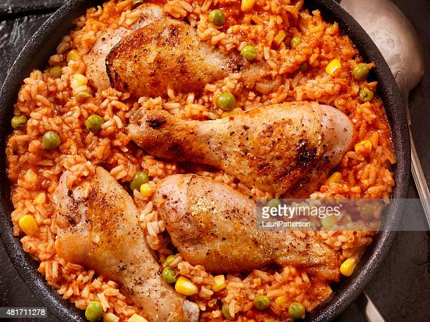 Braised Chicken in a Vegetable Tomato Rice