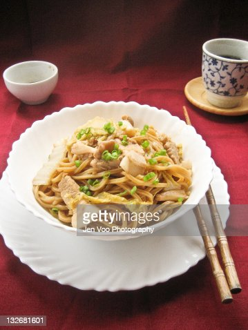Braised  noodles : Stock Photo