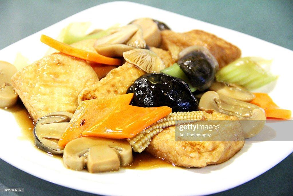 Braised tofu : Stock Photo