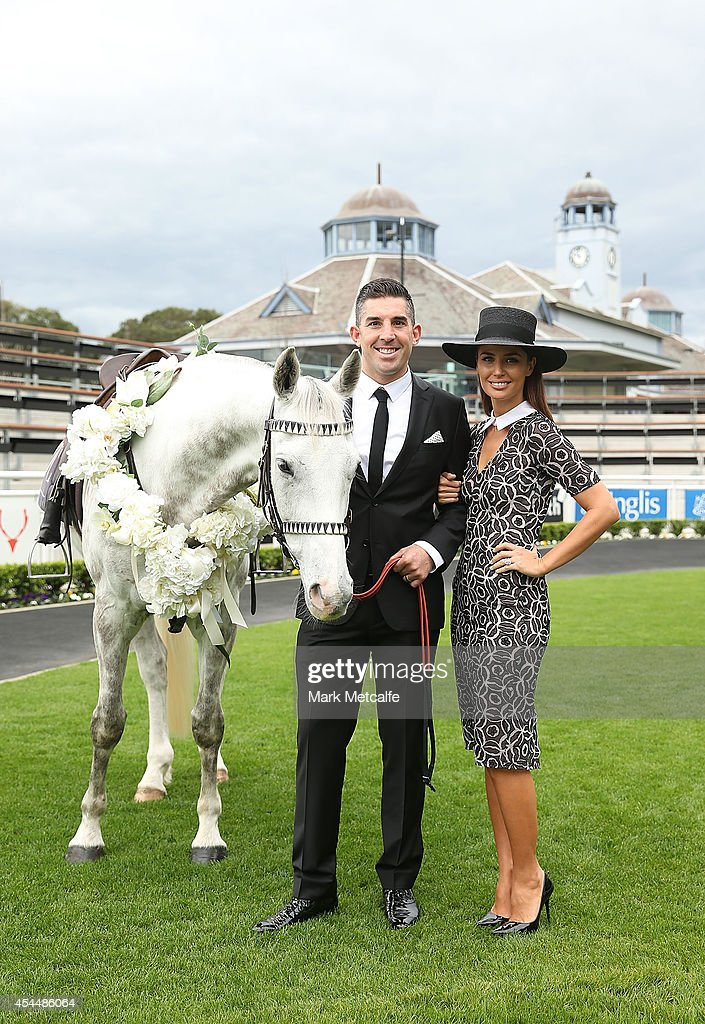 <a gi-track='captionPersonalityLinkClicked' href=/galleries/search?phrase=Braith+Anasta&family=editorial&specificpeople=206211 ng-click='$event.stopPropagation()'>Braith Anasta</a> and Jodi Anasta pose alongside a horse at the launch of the 2014 Sydney Spring Carnival at Royal Randwick Racecourse on September 2, 2014 in Sydney, Australia.
