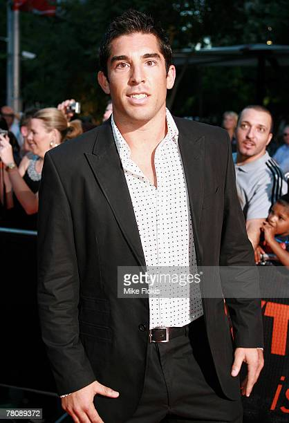 Braith Anasta rugby league player for the Sydney Roosters arrives at the 'Foxtel Is Football' Foxtel and FFA hosted party in honour of David Beckham...