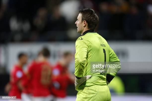Bram Castro of Heracles Almelo during the Dutch Eredivisie match between AZ Alkmaar and Heracles Almelo at AFAS stadium on December 09 2017 in...