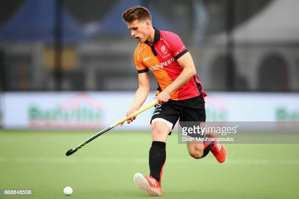 Bram Huijbregts of HC OranjeRood in action during the Euro Hockey League KO16 match between HC OranjeRood and AH BC Amsterdam at held at HC...