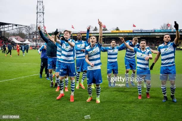 Bram van Polen of PEC Zwolle Django Warmerdam of PEC Zwolle Danny Holla of PEC Zwolle Ryan Thomas of PEC Zwolle Kingsley Ehizibue of PEC Zwolle...