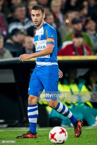 Bram van Polen of PEC Zwolle during the Dutch Eredivisie match between Feyenoord Rotterdam and PEC Zwolle at the Kuip on October 14 2017 in Rotterdam...