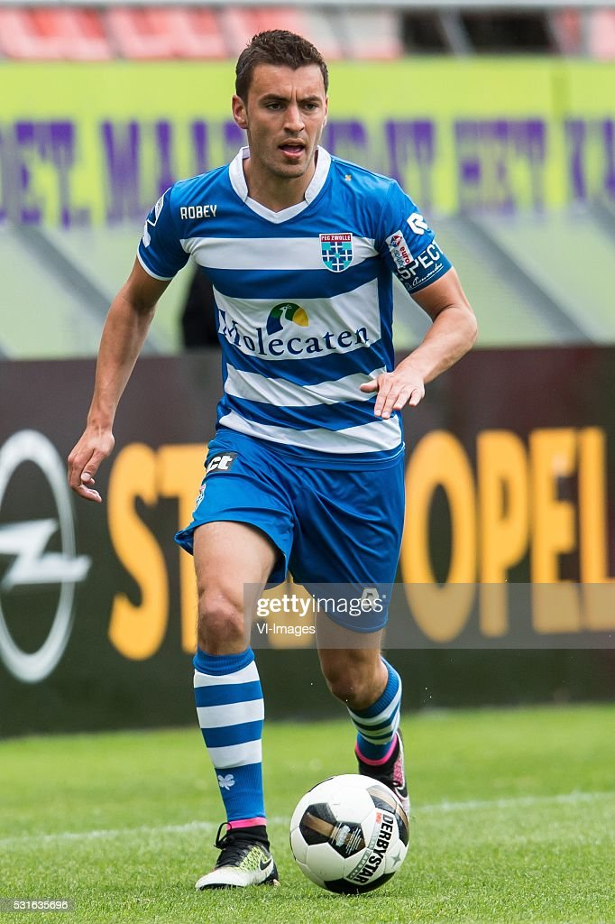 Bram van Polen of PEC Zwolle during the Europa League Playoffs return match between FC Utrecht and PEC Zwolle at the Galgenwaard Stadium on May 15...