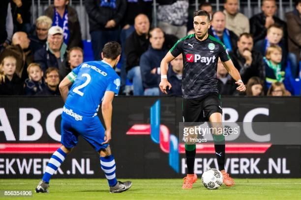 Bram van Polen of PEC Zwolle Mimoun Mahi of FC Groningen during the Dutch Eredivisie match between PEC Zwolle and FC Groningen at the MAC3Park...