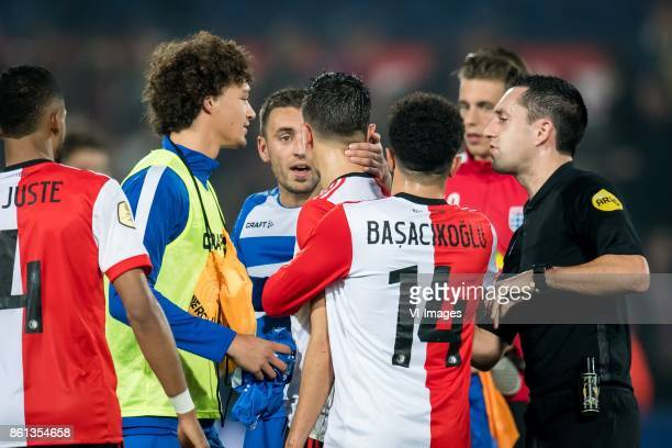 Bram van Polen of PEC Zwolle Steven Berghuis of Feyenoord during the Dutch Eredivisie match between Feyenoord Rotterdam and PEC Zwolle at the Kuip on...