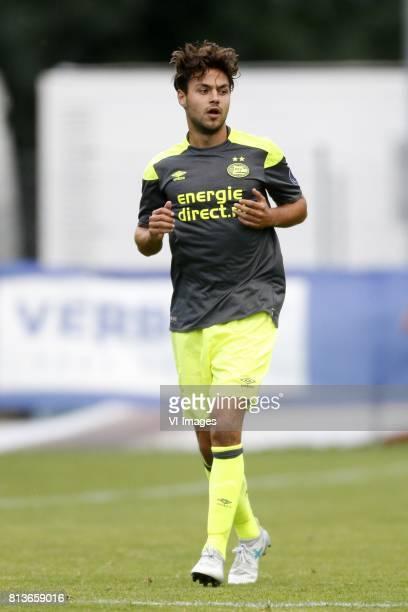 Bram van Vlerken of PSV during the friendly match between FC Sion and PSV Eindhoven at Stade StMarc on July 12 2017 in Bagnes Switzerland