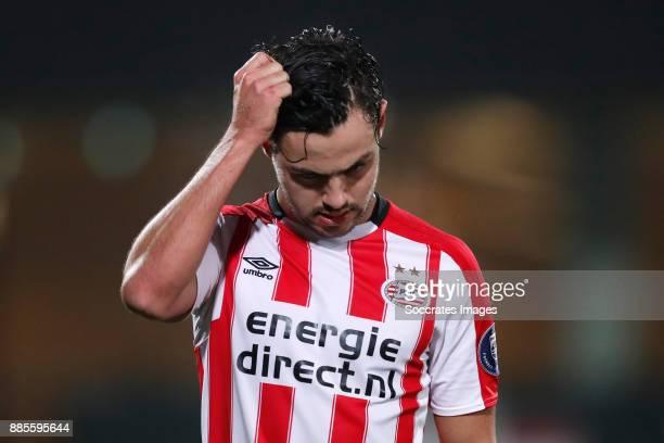 Bram van Vlerken of PSV U23 Disappointed during the Dutch Jupiler League match between PSV U23 v Fortuna Sittard at the De Herdgang on December 4...