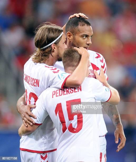 bramka gol radosc Kenneth Zohore Lucas Qvistorff Andersen Mads Pedersen during the UEFA European Under21 match between Czech Republic and Denmark at...