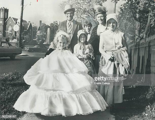 Brampton Celebrates Centennial Brampton Mayor Jim Archdekin and his wife dressed in the styles of 1873 when Brampton was founded walk with Carolyn...