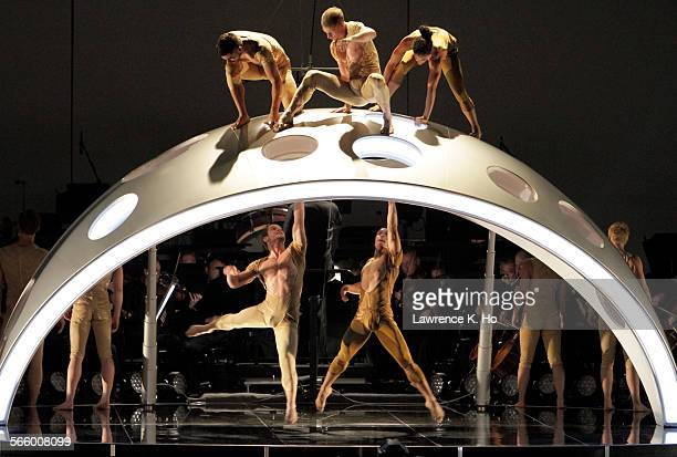 SEP 05 2013 Bramwell Tovey conducting the LA Phil in Philip Glass' Third Symphony in the world premiere of Diavolo Dance Theater's new dance 'Fluid...